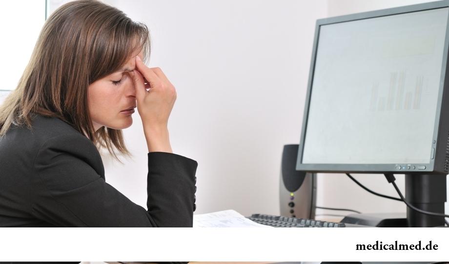 Перенапряжение и усталость глаз