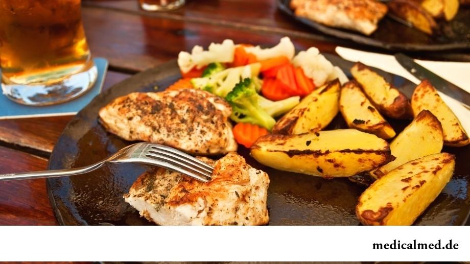Преобладание жирной пищи в течение дня