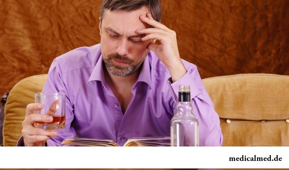 Употребление солидного количества алкоголя