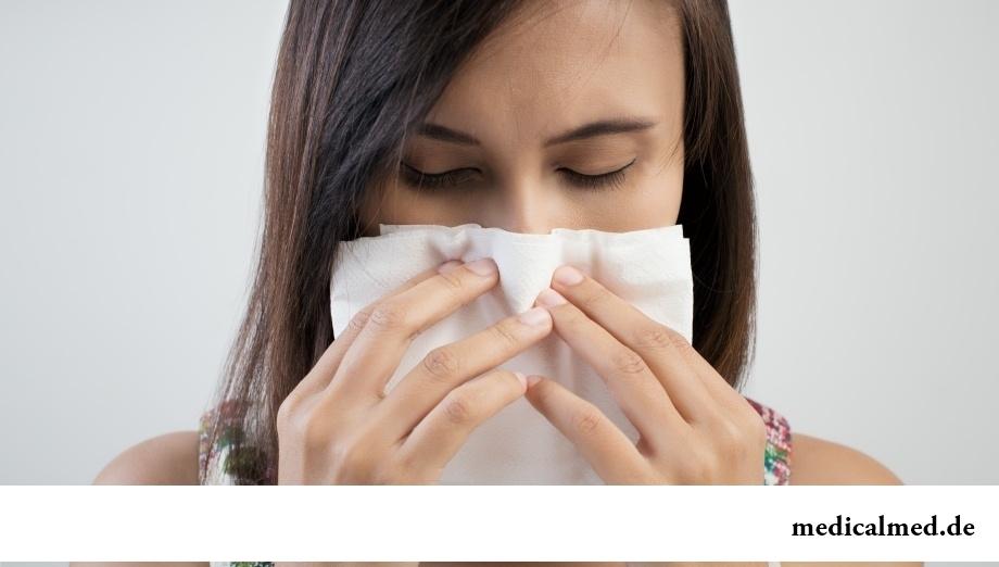 Прогревание носа