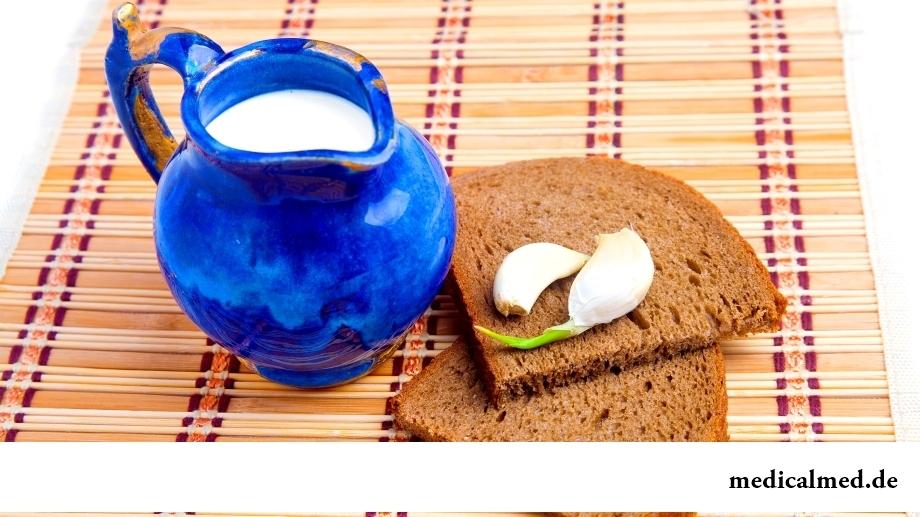 Горячее молоко с чесноком