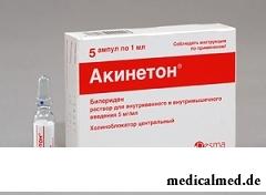 Акинетон раствор для инъекций