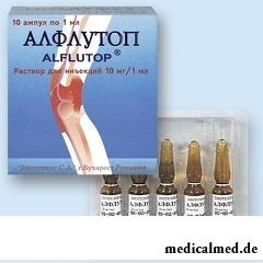 Лекарственная форма Алфлутопа - раствор для инъекций