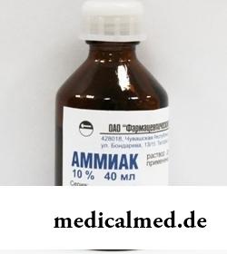 Раствор для местного/наружного применения и ингаляций 10% Аммиак
