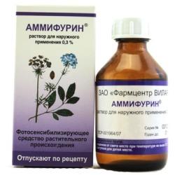 Раствор для наружного применения 0,3% Аммифурин