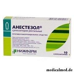 Суппозитории ректальные Анестезол
