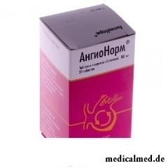 Таблетки, покрытые оболочкой, АнгиоНорм