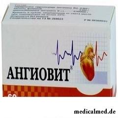 Таблетки, покрытые оболочкой, Ангиовит