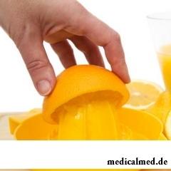 Апельсиновый сок получают из апельсина