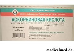 Раствор для внутривенного и внутримышечного введения Аскорбиновая кислота