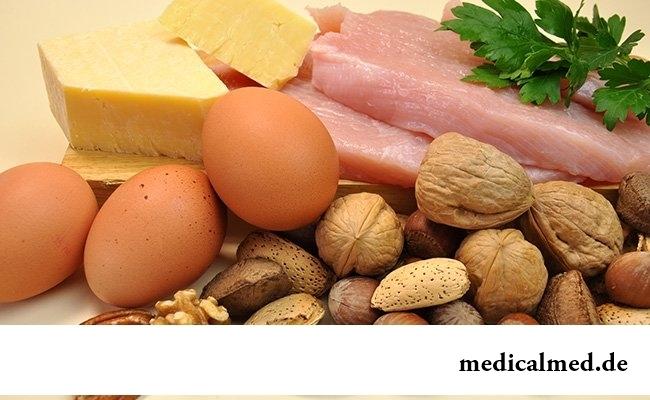 Основа диеты - белки