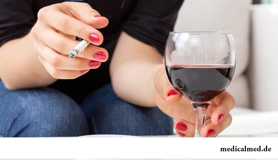 Привычки, вредящие почкам: курение и употребление алкоголя