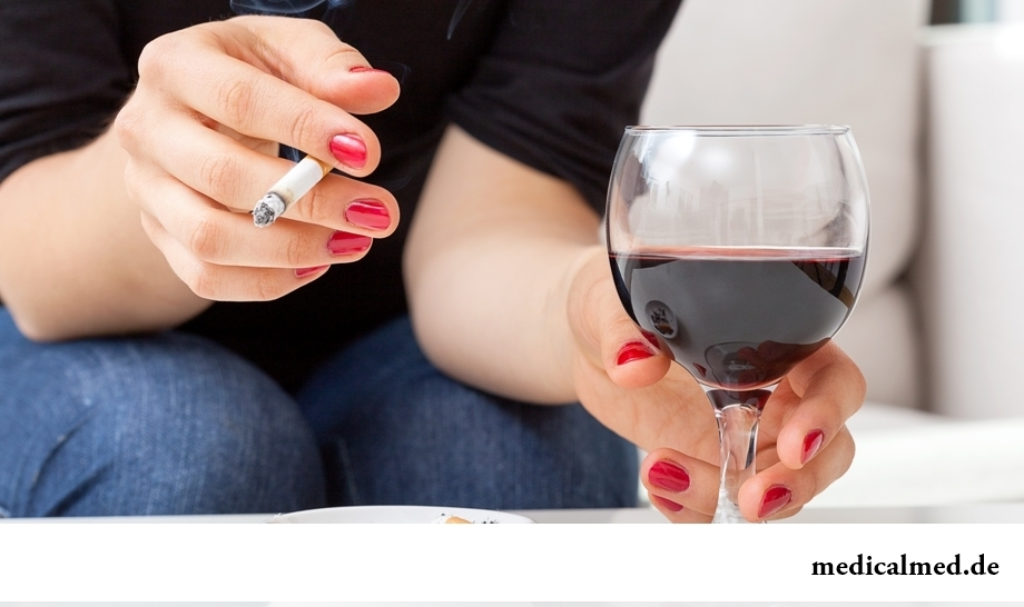 Механизм воздействия курения и алкоголя на организм человека