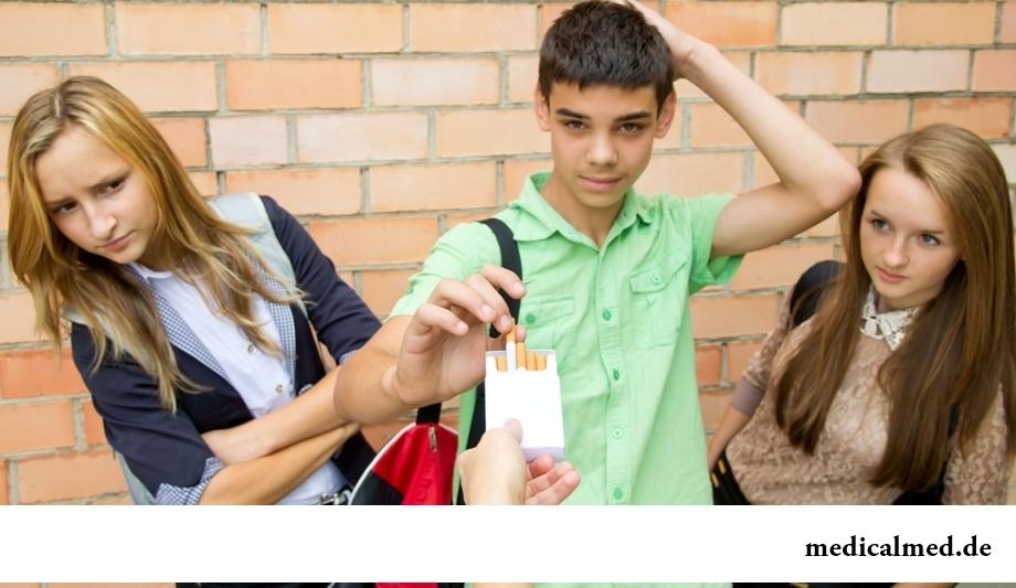 Подростковое курение - причины, вред, проблемы