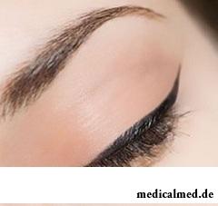 Татуаж глаз - имитация косметического макияжа