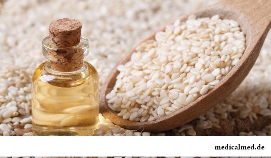 Семена кунжута и кунжутное масло – лидер по содержанию витамина B8
